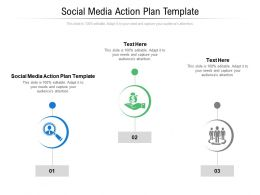 Social Media Action Plan Template Ppt Powerpoint Presentation Summary Example Introduction Cpb