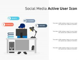 Social Media Active User Icon