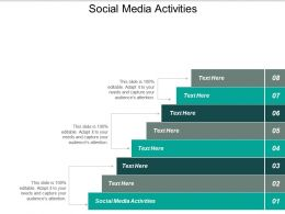 Social Media Activities Ppt Powerpoint Presentation Model Background Designs Cpb
