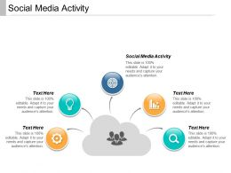 Social Media Activity Ppt Powerpoint Presentation Infographics Design Ideas Cpb