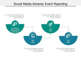 Social Media Adverse Event Reporting Ppt Powerpoint Presentation Show Microsoft Cpb