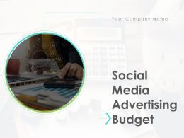 Social Media Advertising Budegt Powerpoint Presentation Slides