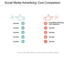 Social Media Advertising Cost Comparison Ppt Powerpoint Presentation Gallery Diagrams Cpb