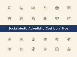 Social Media Advertising Cost Icons Slide Ppt Powerpoint Presentation Background Image