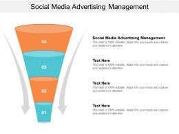Social Media Advertising Management Ppt Powerpoint Presentation Ideas Cpb