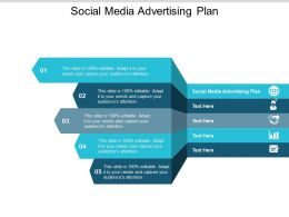 Social Media Advertising Plan Ppt Powerpoint Presentation Show Model Cpb