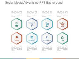 Social Media Advertising Ppt Background