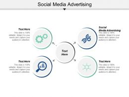 Social Media Advertising Ppt Powerpoint Presentation Infographics Show Cpb