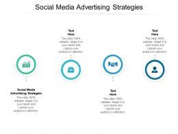 Social Media Advertising Strategies Ppt Powerpoint Presentation File Example Cpb