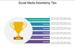 Social Media Advertising Tips Ppt Powerpoint Presentation Summary Grid Cpb