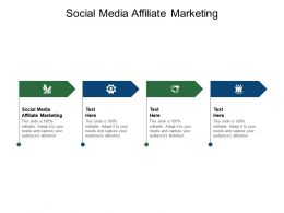 Social Media Affiliate Marketing Ppt Powerpoint Presentation Template Cpb
