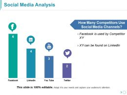 Social Media Analysis Powerpoint Slide Presentation Examples