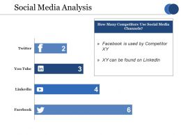 Social Media Analysis Ppt Show