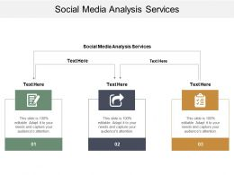 Social Media Analysis Services Ppt Powerpoint Presentation Model Infographics Cpb