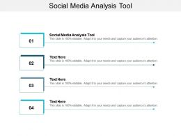 Social Media Analysis Tool Ppt Powerpoint Presentation Show Objects Cpb