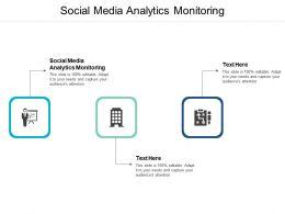 Social Media Analytics Monitoring Ppt Powerpoint Presentation Styles Summary Cpb