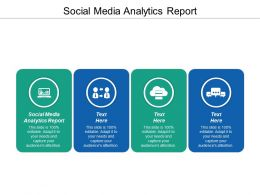 Social Media Analytics Report Ppt Powerpoint Presentation Icon Skills Cpb