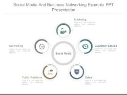 Social Media And Business Networking Example Ppt Presentation