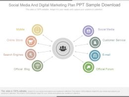 Social Media And Digital Marketing Plan Ppt Sample Download