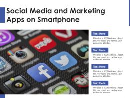 Social Media And Marketing Apps On Smartphone