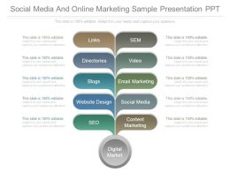 Social Media And Online Marketing Sample Presentation Ppt