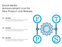 Social Media Announcement Icon For New Product Line Release
