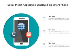 Social Media Application Displayed On Smart Phone