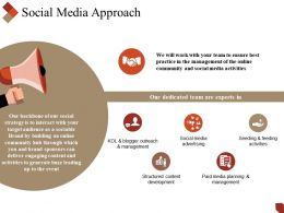 Social Media Approach Powerpoint Slide Presentation Sample