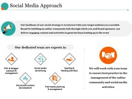 Social Media Approach Ppt Design