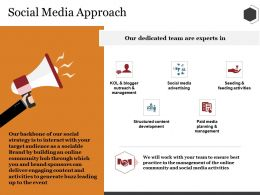 Social Media Approach Ppt Summary Model