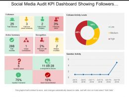 Social Media Audit Kpi Dashboard Showing Followers Activity Summary And Activity Leads