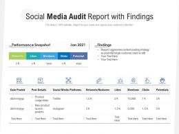 Social Media Audit Report With Findings