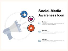Social Media Awareness Icon