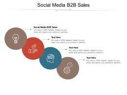 Social Media B2B Sales Ppt Powerpoint Presentation Pictures Icons Cpb