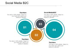 Social Media B2C Ppt Powerpoint Presentation Outline Good Cpb