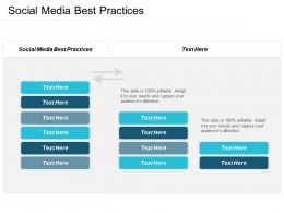 Social Media Best Practices Ppt Powerpoint Presentation Pictures Styles Cpb