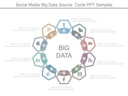 Social Media Big Data Source Cycle Ppt Samples