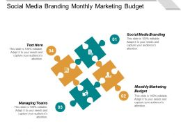 Social Media Branding Monthly Marketing Budget Managing Teams Cpb