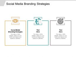 Social Media Branding Strategies Ppt Powerpoint Presentation Gallery Designs Cpb