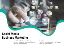 Social Media Business Marketing Ppt Powerpoint Presentation Professional Layouts Cpb