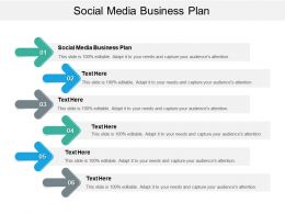 Social Media Business Plan Ppt Powerpoint Presentation Show Cpb
