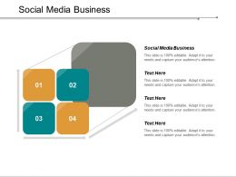 Social Media Business Ppt Powerpoint Presentation Inspiration Demonstration Cpb