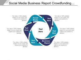 Social Media Business Report Crowdfunding Startup Investment Management Cpb
