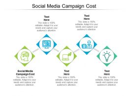 Social Media Campaign Cost Ppt Powerpoint Presentation Inspiration Introduction Cpb