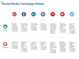 Social Media Campaign Details B2b Market Ppt Powerpoint Presentation Infographics Model