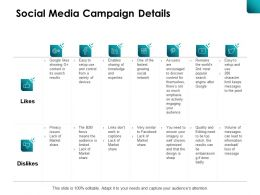 Social Media Campaign Details Embarrassing Ppt Powerpoint Presentation File Good