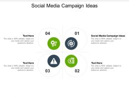 Social Media Campaign Ideas Ppt Powerpoint Presentation Ideas Files Cpb