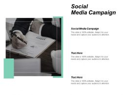 Social Media Campaign Ppt Powerpoint Presentation Gallery Format Ideas Cpb