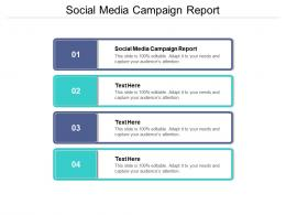 Social Media Campaign Report Ppt Powerpoint Presentation Outline Display Cpb