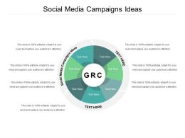 Social Media Campaigns Ideas Ppt Powerpoint Presentation Infographic Template Tips Cpb